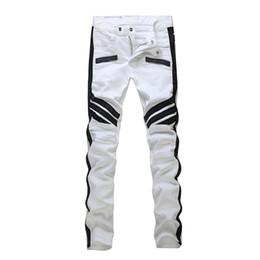 Pantalones vaqueros verdes para hombre online-Pantalones de diseñador para hombre Ejército verde destruido Slim Denim Straight Diseñador de hombre Jea Ripped Jeans Jeans para hombre