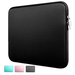 laptop pouches china Promo Codes - Hot Fashion Laptop Sleeve Case 11 12 13 14 15 inch Resistant Neoprene Laptop Bag Notebook Computer Pocket Case Tablet Briefcase Carrying Bag