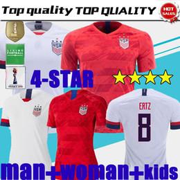 Miúdos de futebol dos eua on-line-NOVO 4 estrelas crianças 2019 Gold Cup EUA mulher camisa de futebol PULISIC DEMPSEY BRADLEY ALTIDORE MORGAN Copa América camisas de futebol