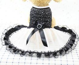 produits princesse Promotion Le chien de forage robe chiot jupe vêtements de chien de luxe robe de mariée pour chiens princesse Pet Products vêtements d'été
