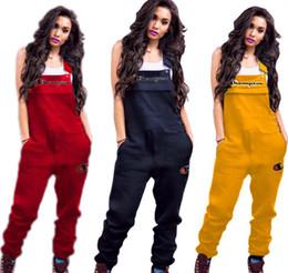 2019 femmes champions broderie Lette bretelles pantalons mode de printemps de pantalons pour dames pantalon long trois couleurs pleine taille S-2XL B3203 ? partir de fabricateur