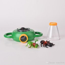 Giocattoli per insetti per bambini online-Bug Box Magnify Insect Viewer 2 Lens 4x Magnification Magnifier Childs Giocattolo per bambini Entomologists Free DHL 861