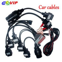 Conjunto de herramientas de diagnóstico de coche online-Calidad A + cdp cables OBD OBD2 juego completo 8 cables de automóvil herramienta de diagnóstico para cdp Pro para automóviles camiones cable de diagnóstico de automóviles