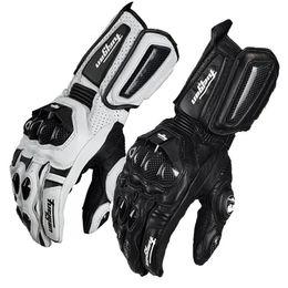 Белые кожаные перчатки онлайн-Оптовая Furygan из углеродного волокна, спортивные гоночные внедорожные перчатки, перчатки для мотоциклетных гонок / мотоциклетные перчатки, велосипедные перчатки черные / белые