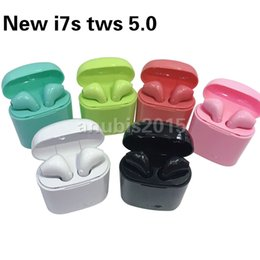 pod kopfhörer Rabatt Neue I7S 5.0 TWS Bluetooth Drahtlose Kopfhörer Mini Kopfhörer Ifans Stereo Musik In-Ear Air Headset Pods Für IPhone Android PC