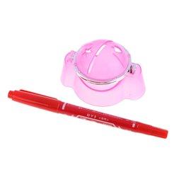 Plastikkugeln stift online-Hochwertige Golfball Liner Marker Vorlage Zeichnung Alignment Tool Plastic + Pen Pink