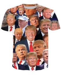 Donald Trump Impresión de manga corta para hombres, camiseta de verano, cuello redondo, material de poliéster, transpirable, de secado rápido, 23ln C1 desde fabricantes
