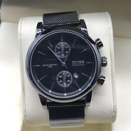 Relojes para hombre Top Brand Luxury boss Relojes famosos Moda Casual Cuero Hombres Relojes Reloj de cuarzo Reloj Hombres Relogio masculino Envío de la gota desde fabricantes