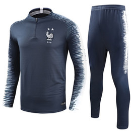 star lavender Promo Codes - 2 stars Maillot de Foot survetement Homme Equipe de 2018 France football jogging soccer tracksuit jerseys