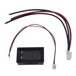 dc amp-lehren Rabatt HLZS-DC 100V 10A Voltmeter Amperemeter Blau Rot LED Amp Dual Digital Voltmeter Messgerät