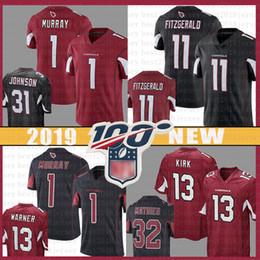 Camiseta de fútbol de color negro online-11 Larry Fitzgerald Jersey del fútbol Arizona 1 Kyler Murray cardinales 31 David Johnson 23 Adrian Peterson número 100 jerseys de color rojo rush negro