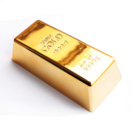 Decorazioni porta oro online-Gold Bullion Door Stopper 1kg Replica Gold Bar Fermacarte fermacorda per Home Office Decorazione regalo novità