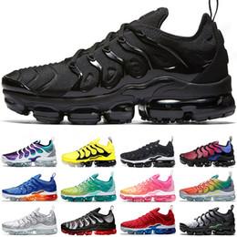sapatas novas do asics Desconto TN Além disso Running Shoes Homens Mulheres Preto Branco Real Violeta persa Teal geométricas Mens Formadores sapatilhas esportivas Chaussures 36-47
