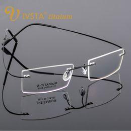 2019 титановые дизайнерские очки IVSTA Beta-Ti Designer  Style Flexible Memory Metal Rimless Eyeglasses Frame for B-Titanium Glasses Men Optical Frame скидка титановые дизайнерские очки