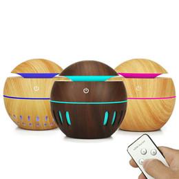 130мл Аромат Увлажнитель воздуха Wood Grain 7colors светодиодные фонари Эфирное масло Диффузор Ароматерапия Mist Maker с пультом дистанционного управления для домашнего офиса от