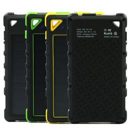 2019 carregadores de bateria portátil 2019 banco de energia solar 8000 mah duplo usb carregador solar bateria externa carregador portátil bateria pacote externo para o telefone inteligente carregadores de bateria portátil barato
