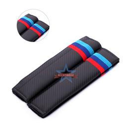 Deutschland Auto-Sicherheitsgurt mit Schulterpolstern Klage für BMW Rote und blaue Streifen Modified Carbon-Faser-Schulterpolster Leder Carbon-Faser-Streifen Versorgung