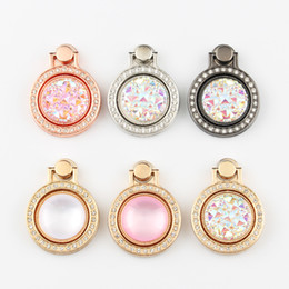 smallest watch Promo Codes - Diamond Jewel Bracket Mobile Phone Universal Ring Bracket Small Pocket Watch Metal Mobile Phone Ring Buckle Ring Bracket