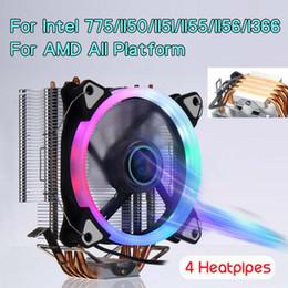 2019 kühler 5v adda 5 Farb-RGB-CPU-Kühler Kühler 4 Heatpipe für AMD Intel 775/1150/1151/1155/1156/1366 120-mm-CPU-Lüfter Kühler Kühler