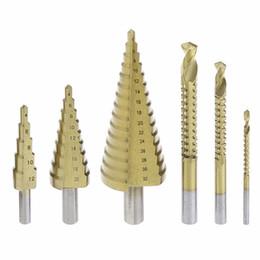 3 Stück Step Drill Kegelbohrer HSS Titanium Hex Lochschneider Werkzeug