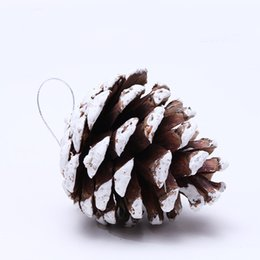 5 cm Naturel /& Red Pine Cone Arbre De Noël Babiole Suspendu Décorations Ornements