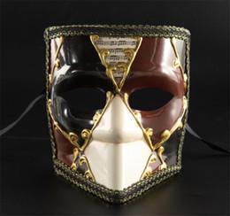 mascarilla completa de venecia Rebajas Máscaras de disfraces de Venecia Máscaras faciales para hombre y mujer Accesorios para disfraces de fiesta para adultos