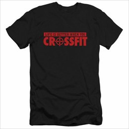 Mens Designer T Shirts Brief drucken Das Leben ist besser, wenn Sie Crossfit T Shirts Hip Hop Streetwear Männer kleiden