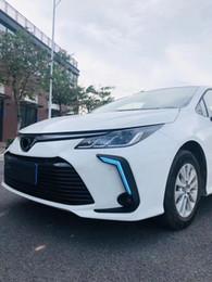 Corolla drl online-DRL faros diurnos para Corolla Altis Auris accesorios del coche de luz 2019 ~ 2020 año LED para la luz de niebla Corolla