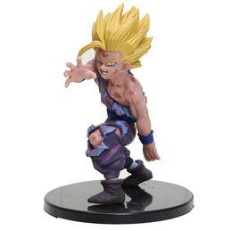 2019 porte de la boîte Anime Brinquedos Super Saiyan Fils Goku Gohan Figure Dragon Ball Z Figurine PVC Figurines Garçon Jouets