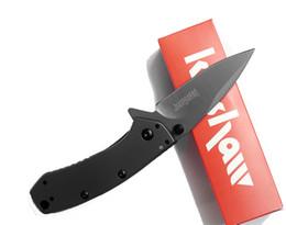 couteaux de poche Promotion Kershaw 1555TI Titane Tactique Couteau Pliant Hinderer Design Flipper Camping Chasse Survie Couteau De Poche 8Cr13Mov Utilitaire EDC Collection