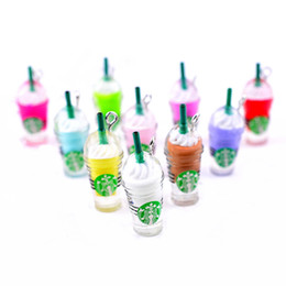 Puppenfutter online-100 stücke 1/6 skala puppenhaus miniatur stroh kaffeetasse für puppenhaus dekor diy eis trinken so tun als ob essen für 1/6 puppe zubehör