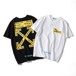 Canada Designer T-shirt de mode jaune cordon imprimé lettres de flèche à manches courtes en coton col rond lâche couple tee livraison gratuite Offre