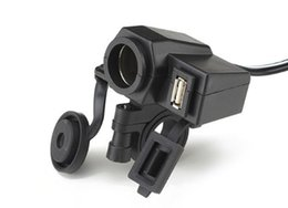 mechero usb moto 12v Rebajas Saim Motocicleta Cargador de coche Encendedor de cigarrillos a prueba de agua USB Cargador de coche One 12v Power Socket 2.1A