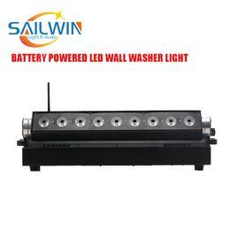 Dmx led par cina online-powerd CINA SAILWIN 9 * 18W RGBAW + UV 6in1 uso della batteria e luce par wireless LED PER DJ DISCO BAR e festa nuziale