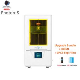 Módulo de eje online-Impresora 3D ANYCUBIC blanca fotones S + 500ML de doble eje Z LCD mejorada de la impresora Módulo Matriz 405nm SLA fotones 3d Drucker impressora