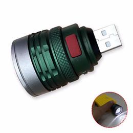 2019 sottile cob led USB Handy Potente Torcia a LED Portatile Mini Zoomable 3 Modalità Pocket Torch Lampada Lanterna Lighitng per la caccia Camping