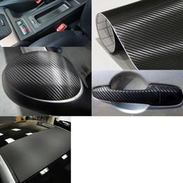 2019 involucro d'aria da 3 metri 3M qualità 3D nero in fibra di carbonio auto avvolgere fogli di pellicola per auto con scarico dell'aria Top quality 1.52x30m / Roll 4.98x98ft involucro d'aria da 3 metri economici