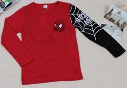 Canada Le nouveau printemps et l'automne 2019 commerce international des vêtements pour enfants Europe et Amérique Spider Man pur coton à manches longues T-shirt de bande dessinée Offre