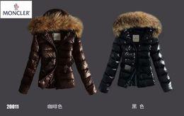 chaquetas de algodón para mujer Rebajas por la chaqueta caliente de dos tonos larga capa de las mujeres con la capa con capucha mujeres invierno gruesa abajo chaqueta para mujer de algodón Bolsillos Outwear el tamaño S-XXXL
