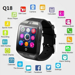 gsm mobile watches Coupons - New Q18 Smart Watch Support 2G GSM SIM Card Audio Camera Bluetooth Fitness Tracker Smartwatch Android iOS Mobile Phone watches