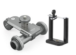 ruedas de cámara Rebajas 2019 - PPL-06 Motorizado eléctrico de 3 ruedas Video Polea Coche Dolly Rolling Slider Skater para Canon DSLR Camera + Smartphone Holder