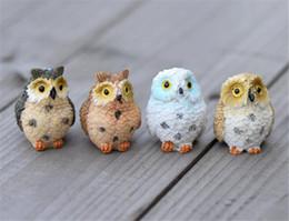 2019 civetta decorativa del giardino New Patio Landscape Owl Doll Resina Fairy Home Garden Decorazione fai da te Micro ornamenti Decorazione sconti civetta decorativa del giardino