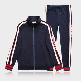 2019 calidad de los hombres sudadera ropa deportiva diseño de moda ropa de moda de los hombres ropa deportiva chaqueta deportiva traje de trotar desde fabricantes