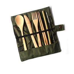 Faca De Bambu, garfo e colher Japonês conjunto portátil de mesa de talheres pacote de louça de mesa conjunto de talheres para casa T3I5087 de Fornecedores de ferramentas de cozinha para crianças