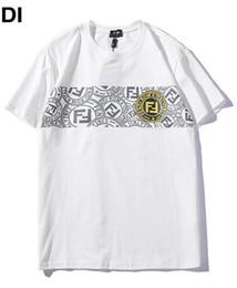 027c644ac4 2019 new Men white T shirt MODE logo f Letter Horizontal bar logo Printed T-shirt  Short Sleeve women Hip Hop Street kanye west Tee S-XXL