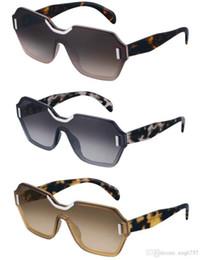 Telai di parigi online-Gli ultimi occhiali da sole da donna con taglio geometrico e montatura senza montatura del telaio, design dell'obiettivo 15T, occhiali da vista, modelli di sfilate di moda di Parigi