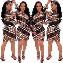 Длинное черное платье онлайн-Женщины Дизайнерские платья Лето Блестки Sheer Ff Письмо с блестками с длинным рукавом Bling Bling выше колена мини-платье карандаш клуб черный