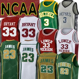 a9337e3dd02f NCAA 23 LeBron Jersey James Kobe Jersey Bryant Iverson Jerseys Allen St.  Vincent High School Lower Merion Georgetown Hoyas discount lebron jerseys