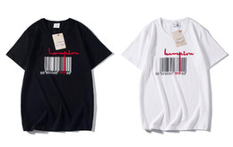 print bar codes Promo Codes - Fashion brand designer T-shirt hip hop a bar surprise scan code men's clothing casual T-shirt men's and women's letters embroidery T-shirt