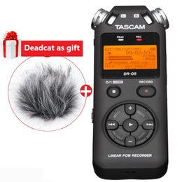 TASCAM DR-05 Portable Digital Voice Recorder audio recorder MP3 Recording Pen Version 2 with 4GB micro SD deadcat as gift dr05 supplier voice recording gift от Поставщики подарок для записи голоса
